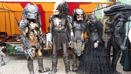 This particular clan meeting was held last year in as part of the Elf Fantasy Fair in Europe. Looks like a lot of folks in various costumes u2013 Preds Aliens ... & Predator Costumes Models Kits and Collectibles u2013 Predator Stuff ...