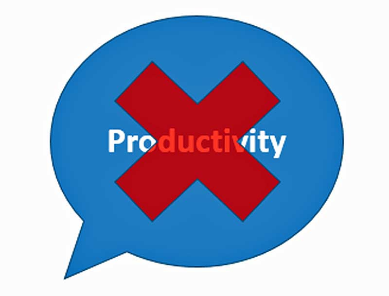 Avoid the P word to be Productive