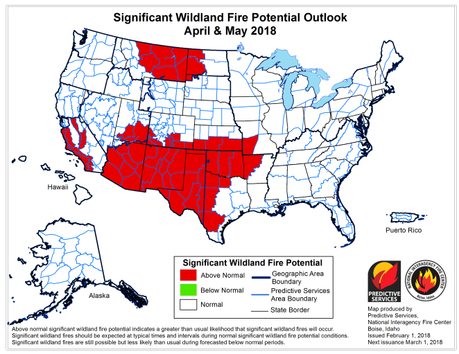 Extended Wildland Fire Potential Outlook
