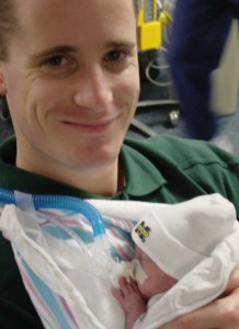 Mike Holding Jackson in the NICU