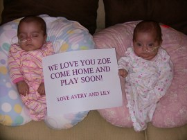 Avery & Lily at home