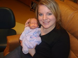 My tiny Princess and I, in the NICU