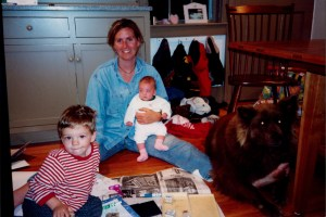 Kasey with children