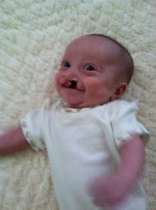 First smile at 4 mths. actual age!