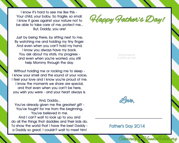 fathers day printable poem