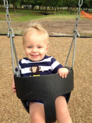 My son swinging
