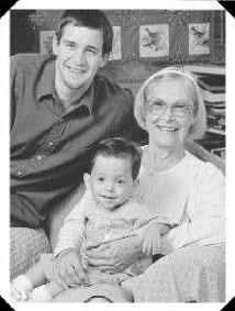 Edith with two NICU graduates, circa 1999. Photo credit: Toni Ingliss