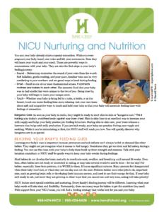 NICU nutrition