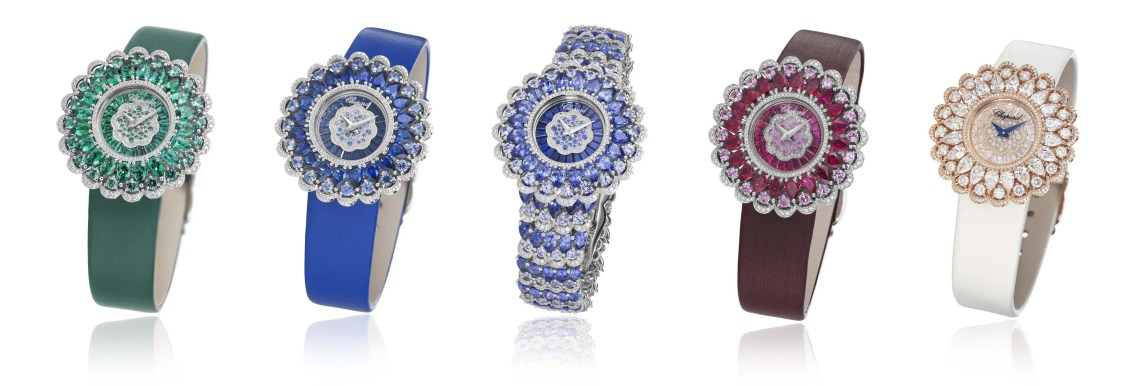 Colourful watches by Chopard