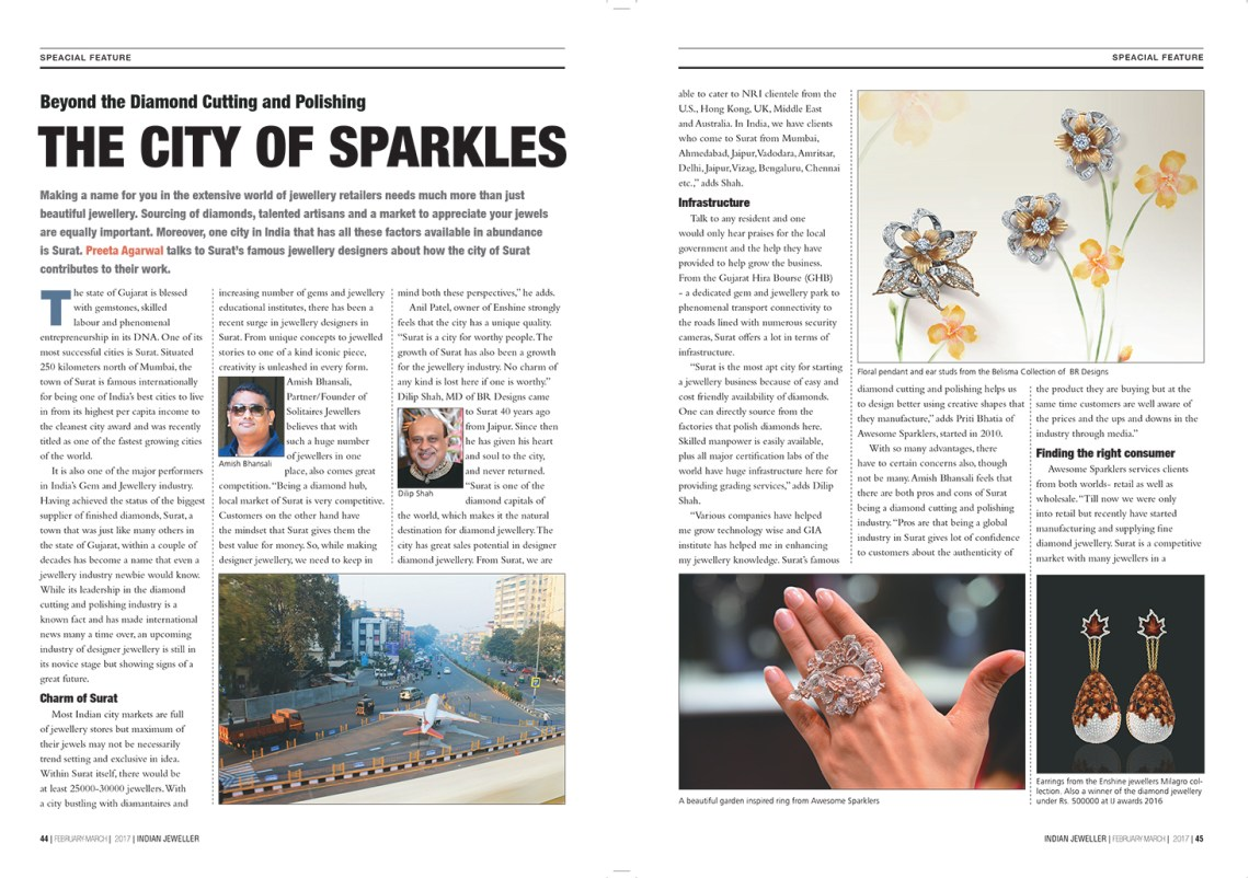 The City of Sparkles Indian Jeweller Magazine Feb Mar 2017