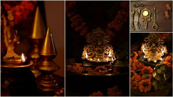 Diwali decor ideas - brass accents for the festivities
