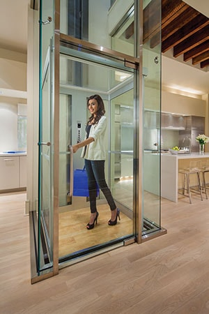 Pietro Elevette 500 in Glass Enclosure Residential Elevator