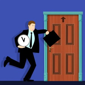 Businessman running late - This is the cause of the most common office moving issues.