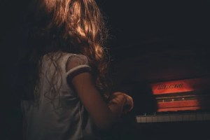 A child playing a piano