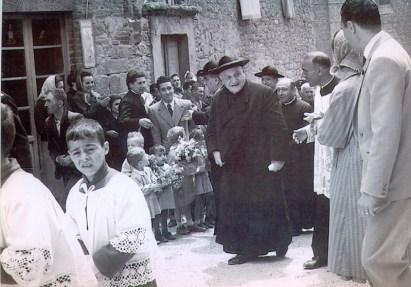 Papa Roncalli a Preggio, all'epoca Patriarca di Venezia