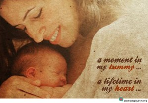 A moment in my tummy - inspirational quote