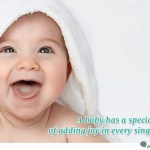 baby quote about adding happiness and joy
