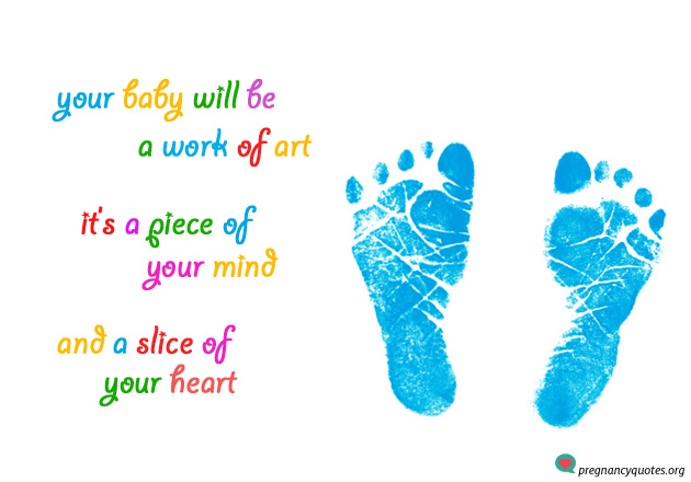 Cute baby feet quote - blue baby feet imprints
