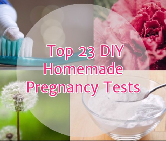 What Is A Homemade Pregnancy Test