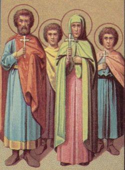 sveti Hesper, Zoe, Ciriak in Teodul - družina in mučenci