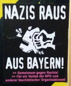 Antifa Aufkleber in Freising