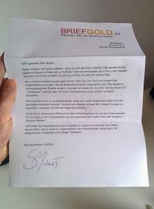 Briefgold