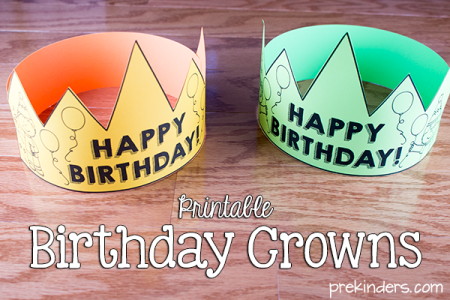 Birthday Crown  Certificate  Chart   PreKinders Printable Birthday Crowns for Teachers