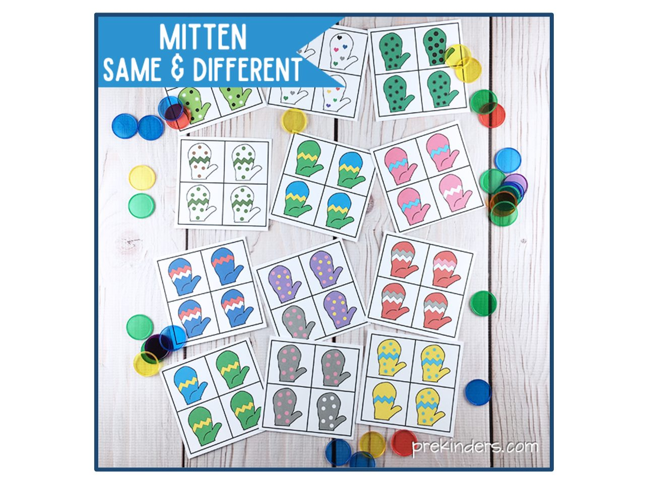 Mitten Same Amp Different Printable Winter Visual