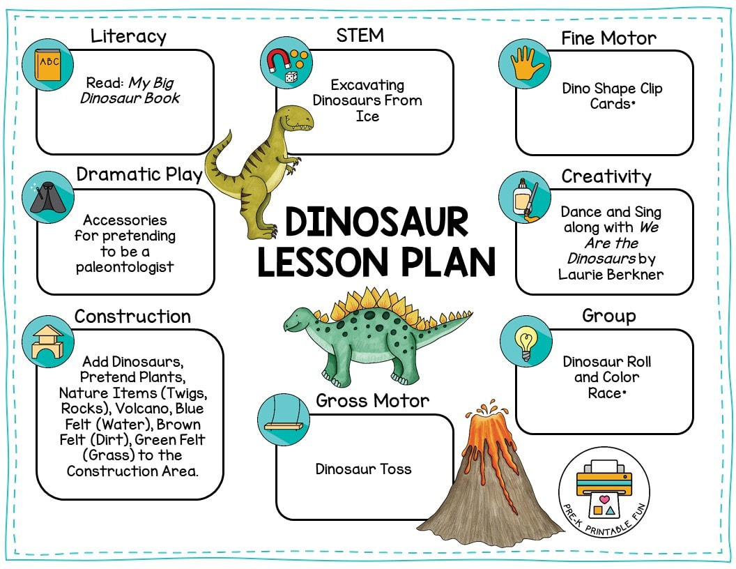 Dinosaur Preschool No Prep Worksheets Amp Activities