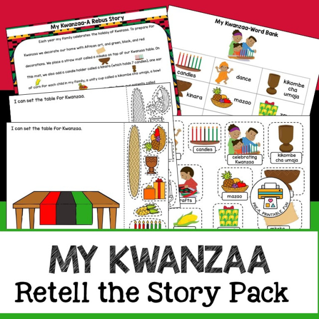 My Kwanzaa Retell The Story Pack
