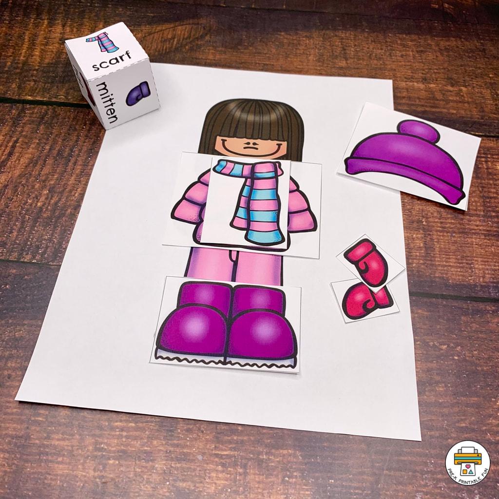 Winter Clothes Preschool Activities