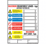 Weight Load Notices - Shelf/Pallet Racking
