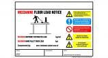 Weight Load Notices - Mezzanine Floors