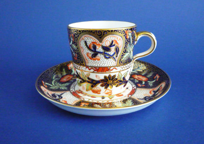 Lovely Antique Davenport Porcelain Imari Pattern Cup And