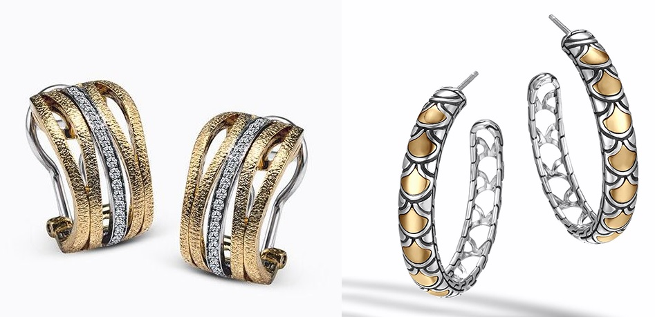 Gold Earrings -- Kevin's Fine Jewelry