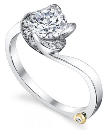 Mark Schneider Floral Engagement Ring Rose 17225 Available At BARONS Jewelers in Dublin, California