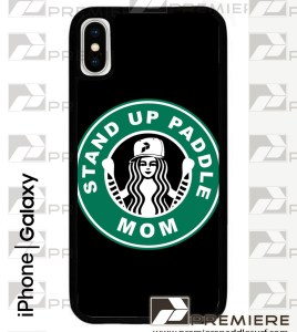 "Stand Up Paddle Mom ""Coffee"" Logo Case iPhone X"