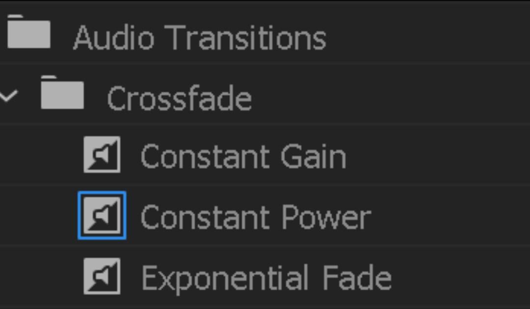 Transizioni audio: quale scegliere?