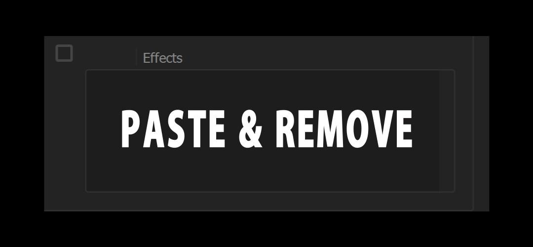 Incolla e Rimuovi attributi: controllo effetti su selezioni di clip