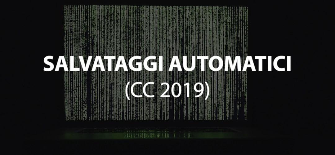 Salvataggi automatici: impostazioni e personalizzazione (CC 2019)