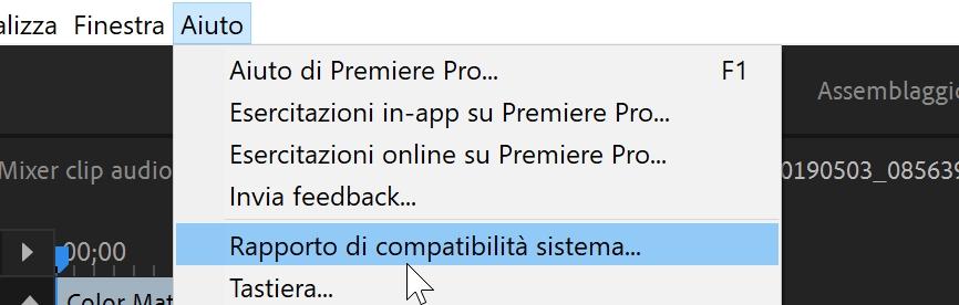 Il tuo sistema è compatibile con Premiere Pro CC?