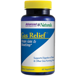 Advanced Naturals Gas Relief 60 vcaps A16750