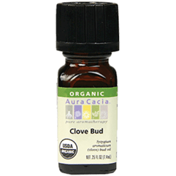 Aura Cacia Clove Bud Organic Essential Oil .25 oz A08096