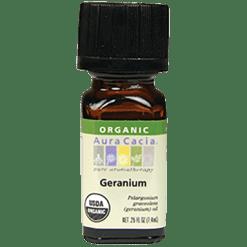 Aura Cacia Geranium Organic Essential Oil .25 oz A08189