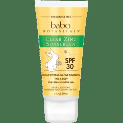 Babo Botanicals Clear Zinc Sun Lotion Unscented 3 oz B82910