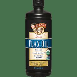 Barleans Highest Lignan Flax Oil Organic 32 oz B32HL