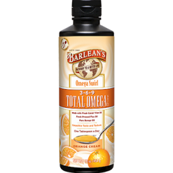 Barleans Total Omega 3 6 9 Orange Cream 16 oz OMEG13