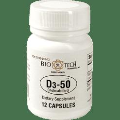 Bio Tech D3 50 50000 IU 12 caps B01002