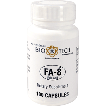 Bio Tech FA 8 Folic Acid 800 mcg 100 caps FOLI4