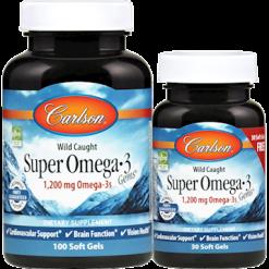 Carlson Labs Super Omega 3 Gems 1000 mg 130 softgels SUP38